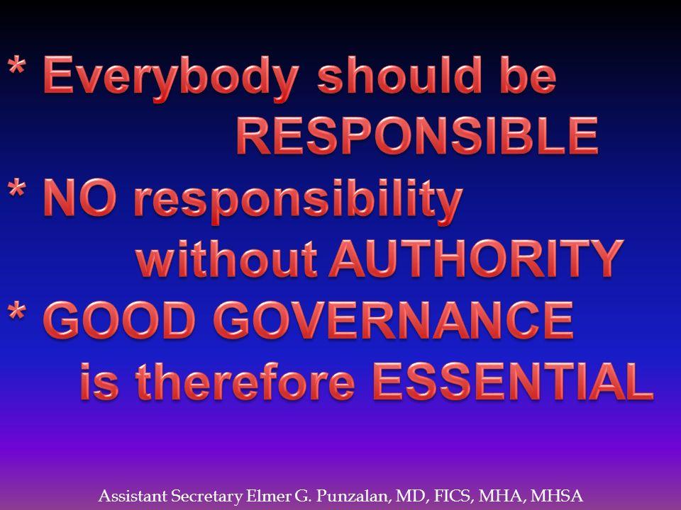 Assistant Secretary Elmer G. Punzalan, MD, FICS, MHA, MHSA