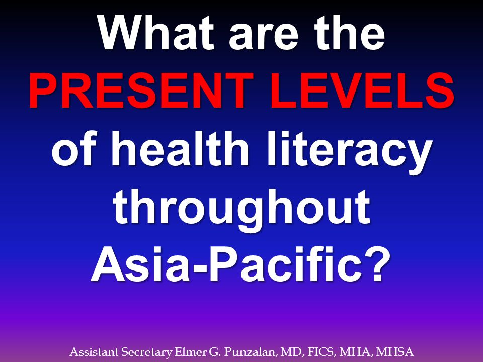 of health literacy throughout