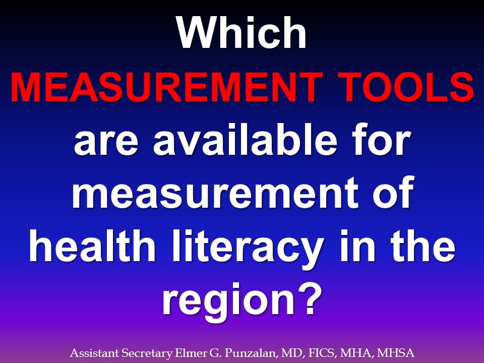 Which health literacy in the region
