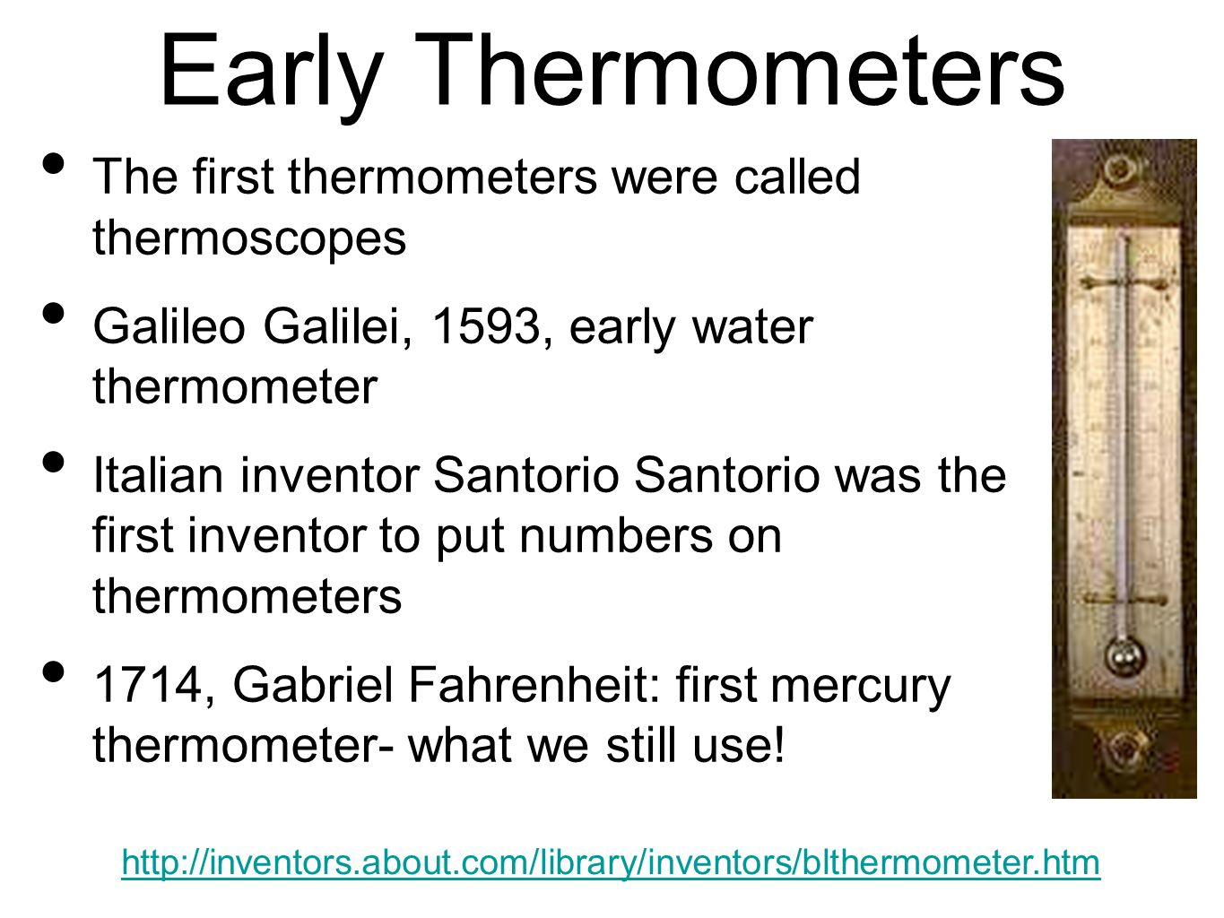 first mercury thermometer - photo #18