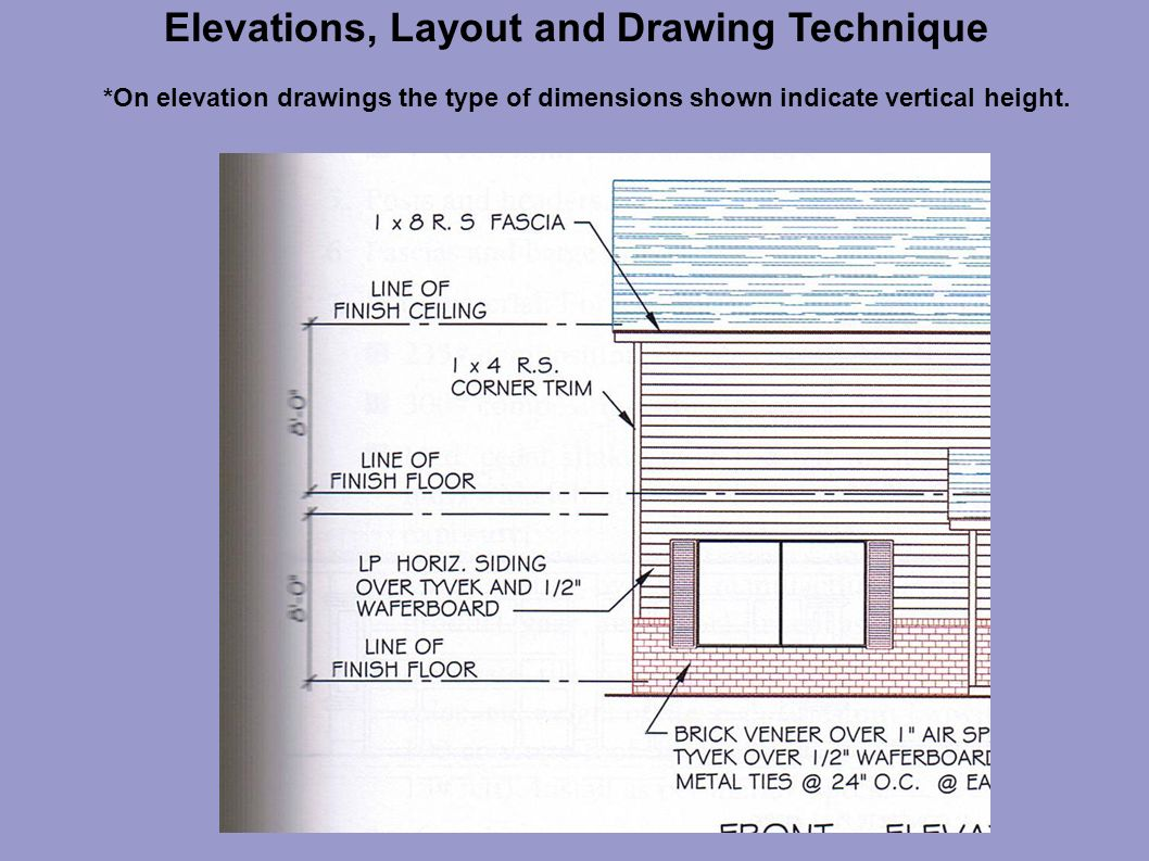 Floor Elevation Technique : Elevations layout and drawing technique ppt video