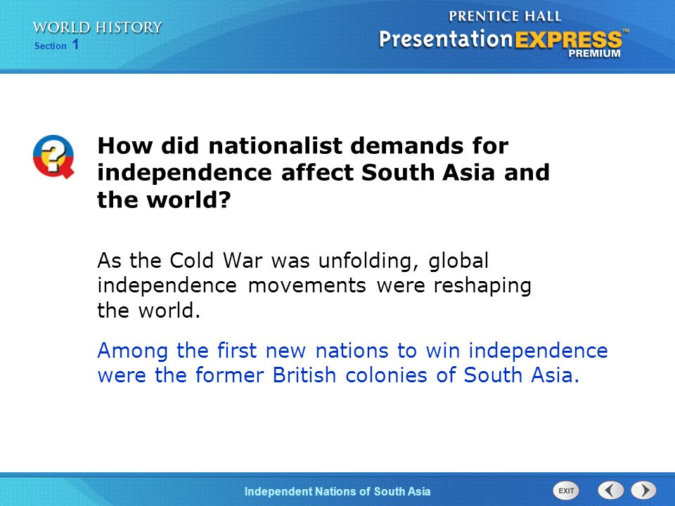 Objectives Understand why independence brought partition to South ...