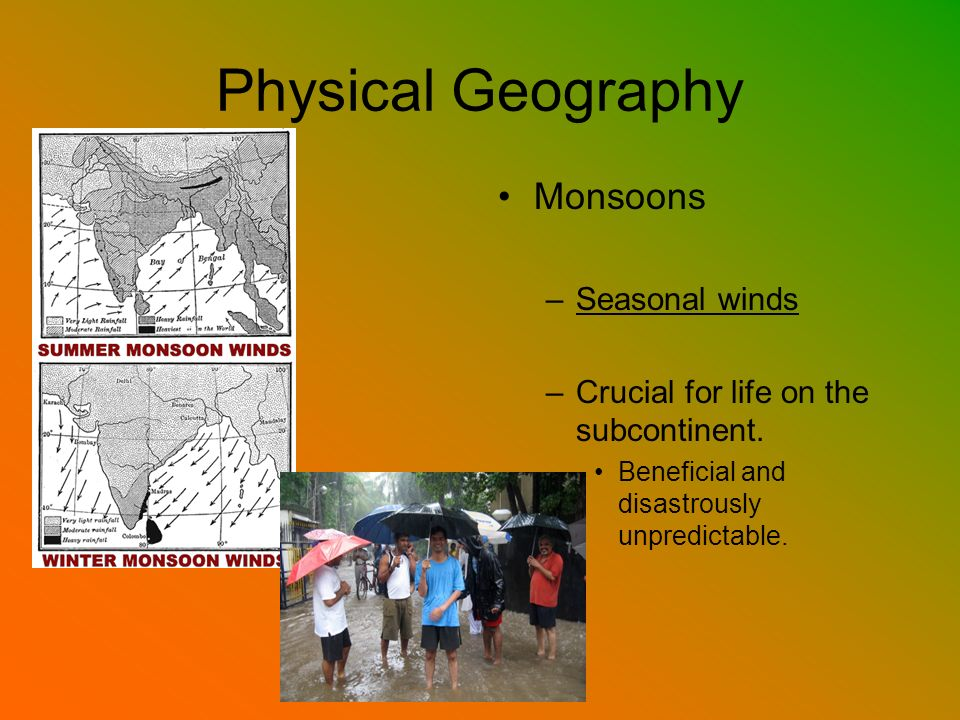 Physical Geography Monsoons Seasonal winds