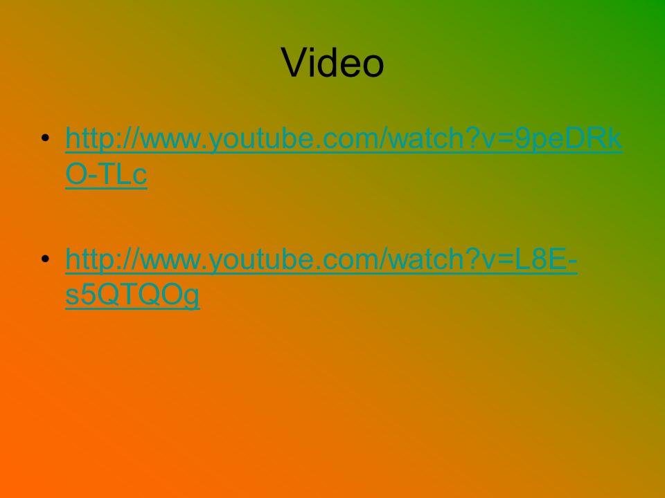 Video http://www.youtube.com/watch v=9peDRkO-TLc