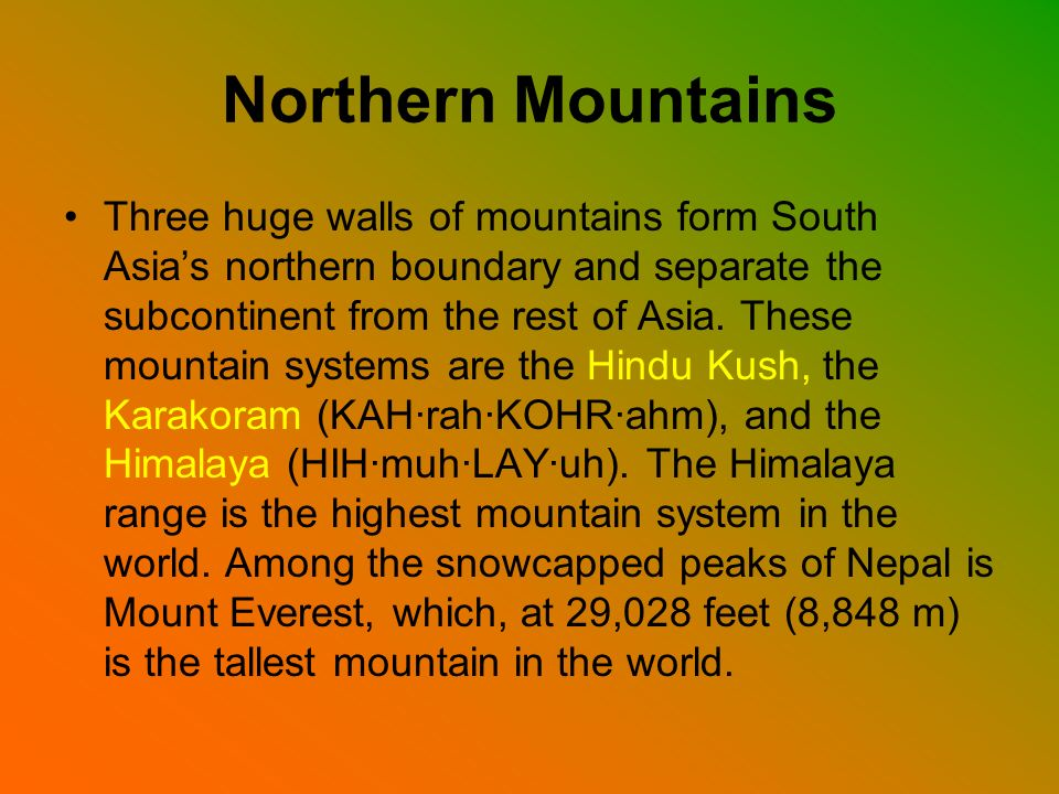 Northern Mountains