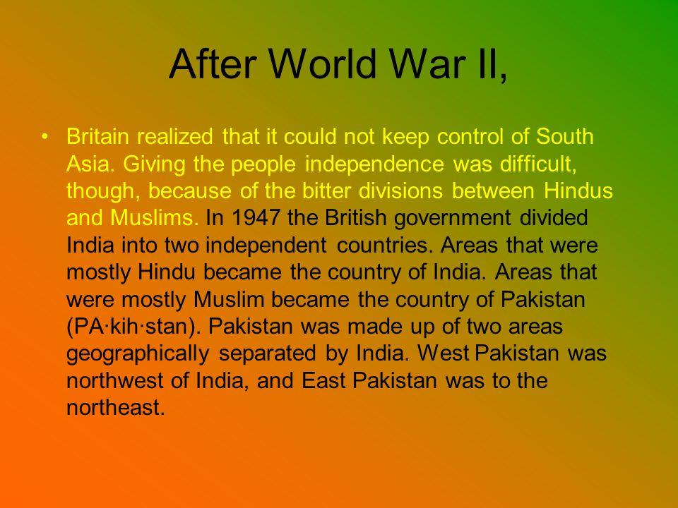 After World War II,