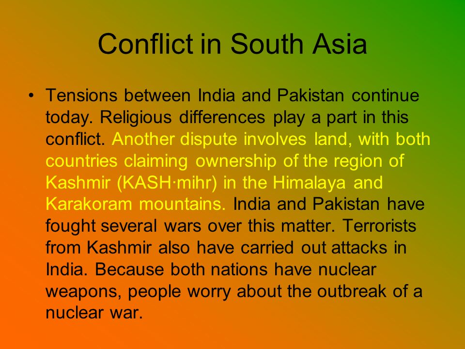 Conflict in South Asia