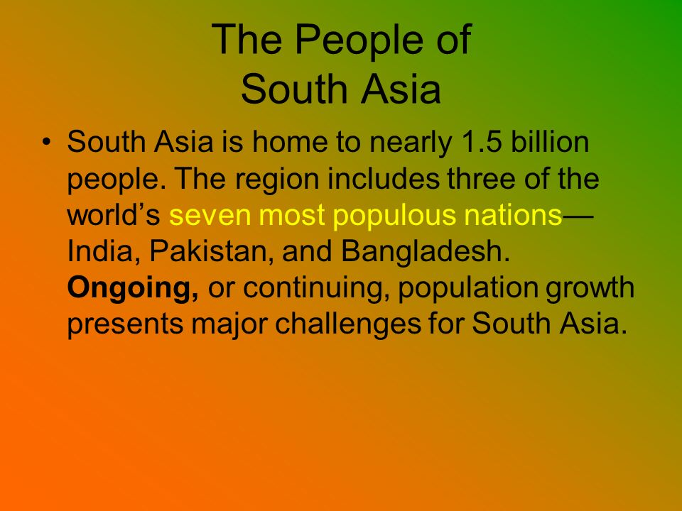 The People of South Asia