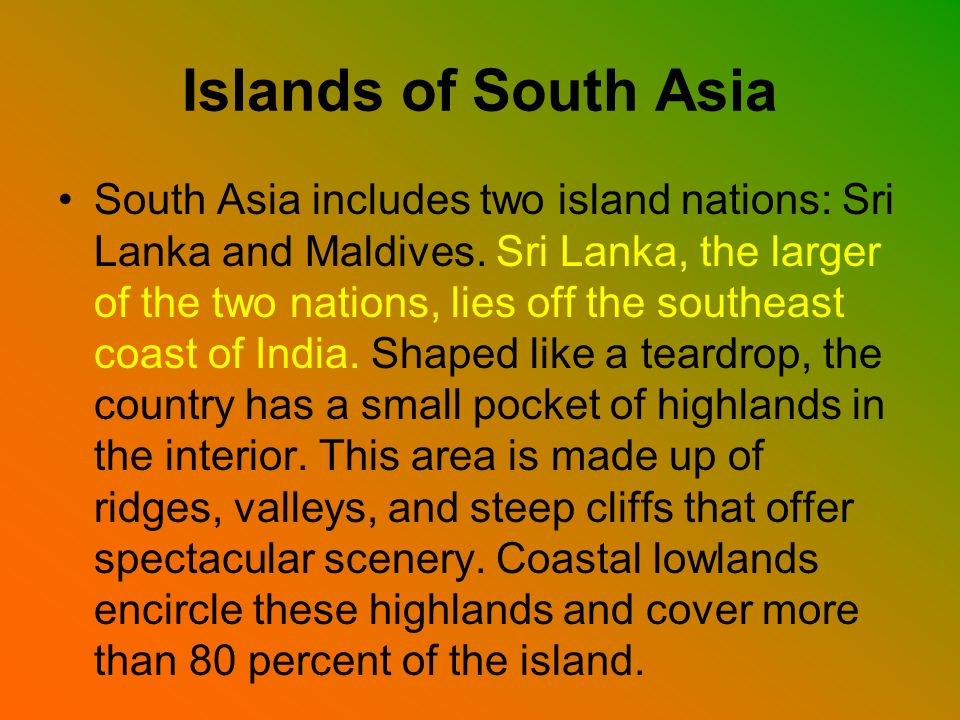 Islands of South Asia