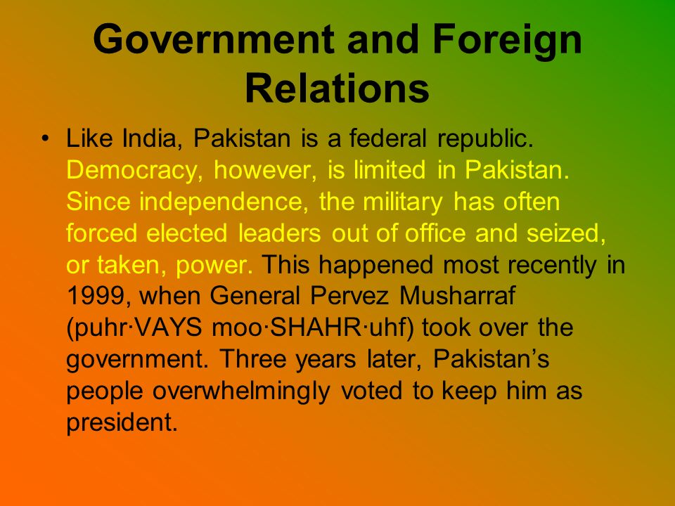 Government and Foreign Relations