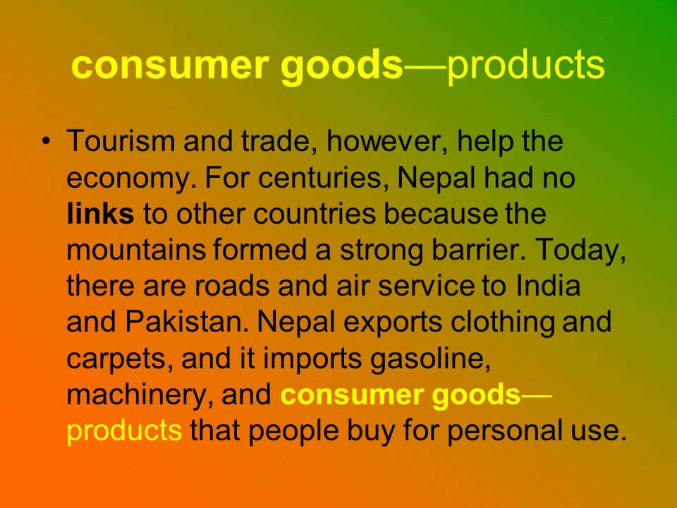 consumer goods—products