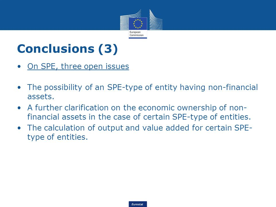Conclusions (3) On SPE, three open issues