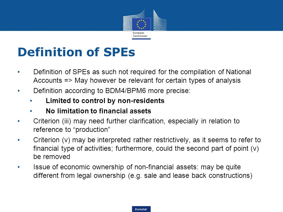 Definition of SPEs