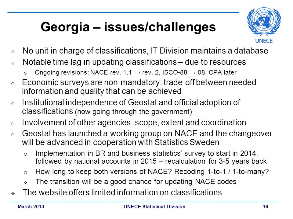 Georgia – issues/challenges