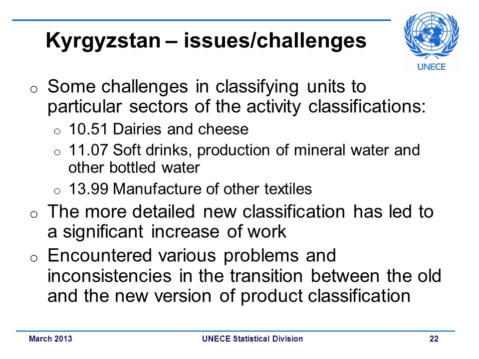 Kyrgyzstan – issues/challenges