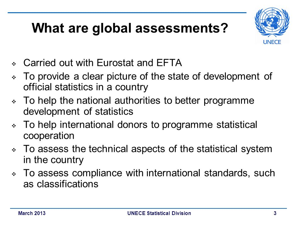 What are global assessments