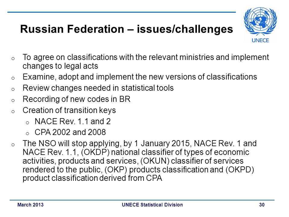 Russian Federation – issues/challenges
