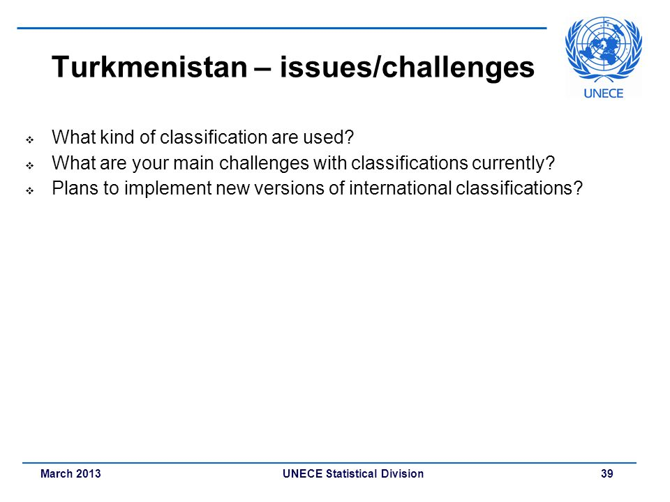 Turkmenistan – issues/challenges