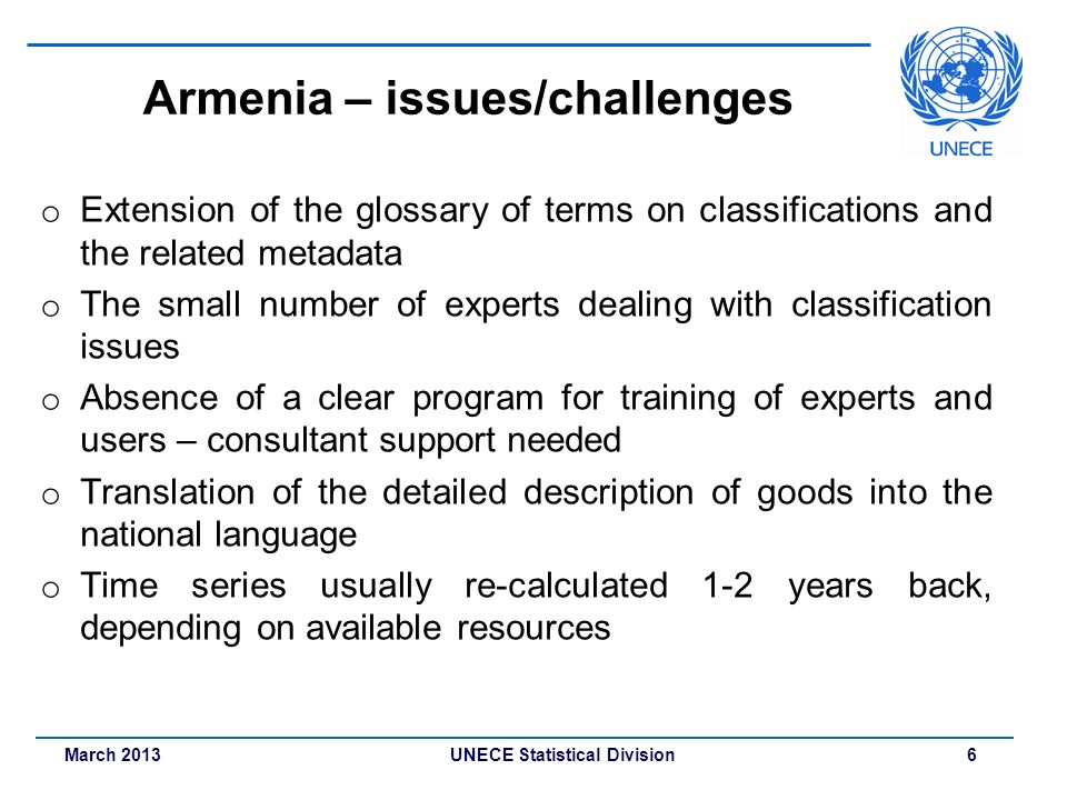 Armenia – issues/challenges