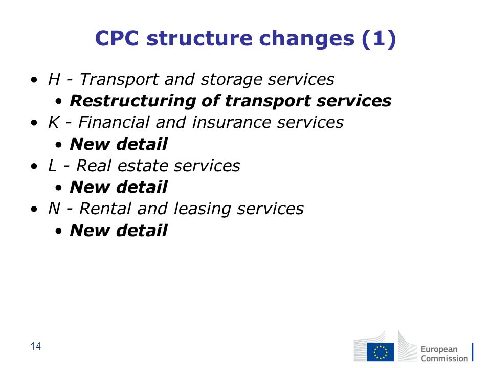 CPC structure changes (1)