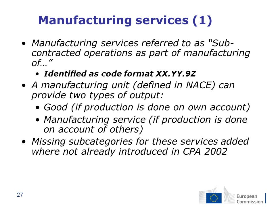 Manufacturing services (1)