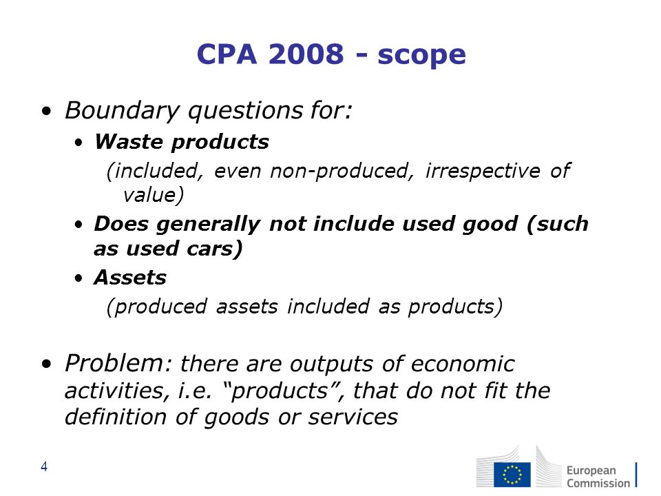 CPA 2008 - scope Boundary questions for: