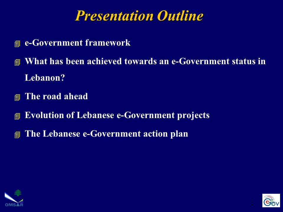 Presentation Outline e-Government framework