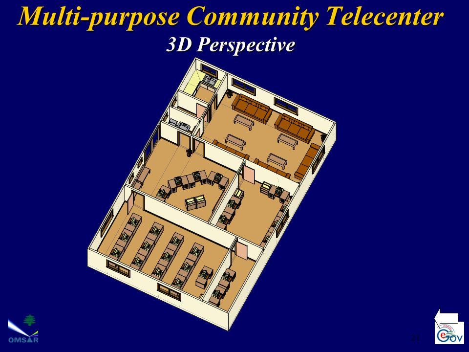 Multi-purpose Community Telecenter 3D Perspective