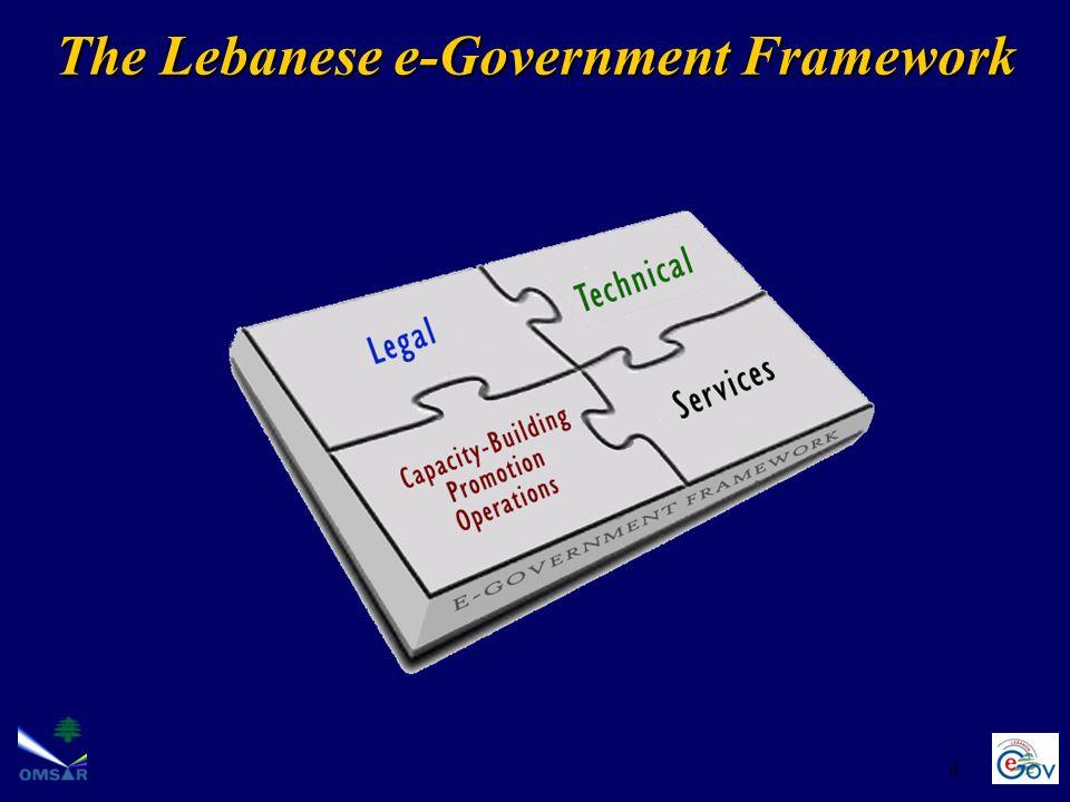The Lebanese e-Government Framework