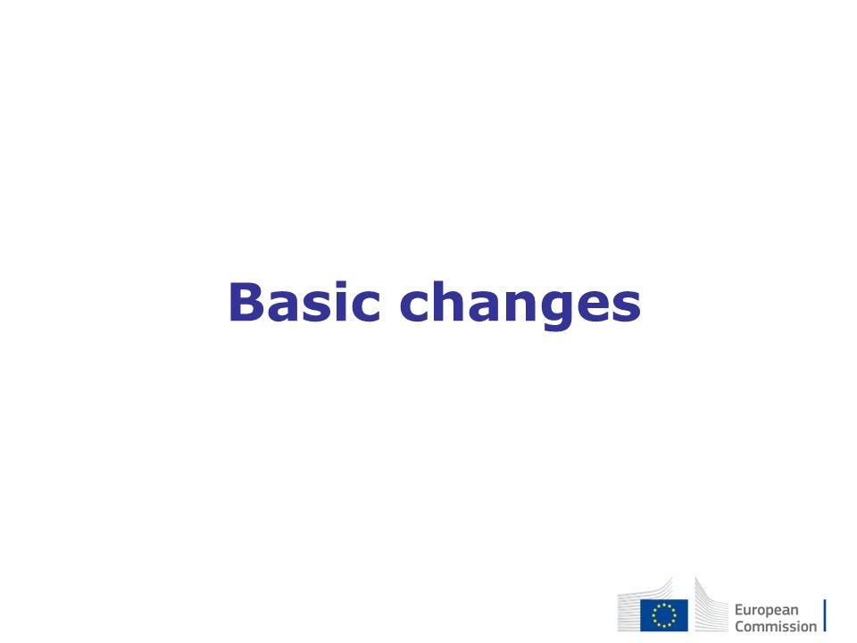 Basic changes