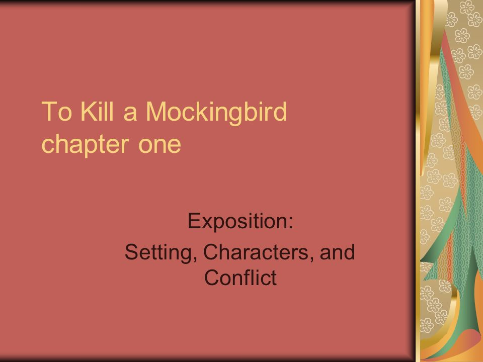 to kill a mockingbird setting essay The setting of ''to kill a mockingbird'' is one of the most important elements of the story this lesson explores where and when the novel takes.