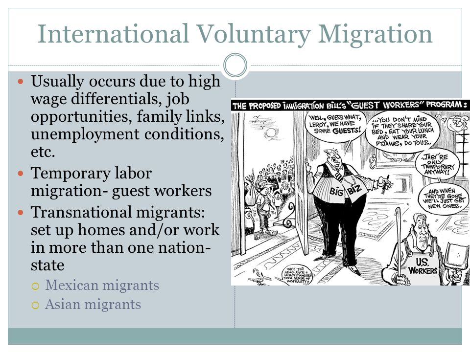 """international voluntary migration Definitions in this section civil war and international war and are described in more detail in the forced migration is """"a general term that refers to the."""