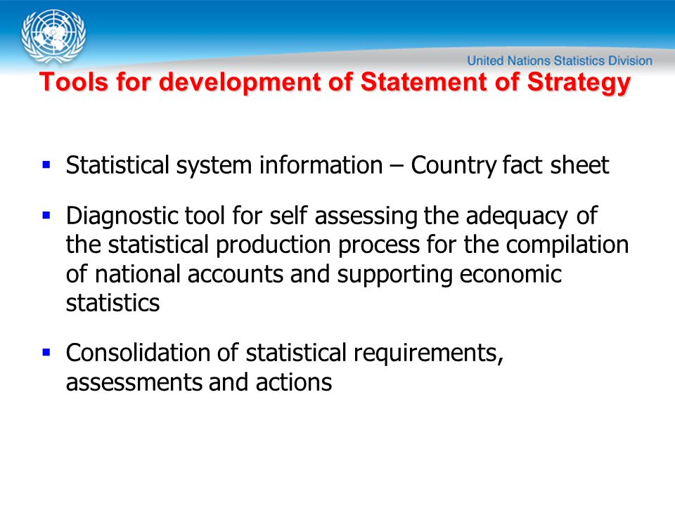Tools for development of Statement of Strategy