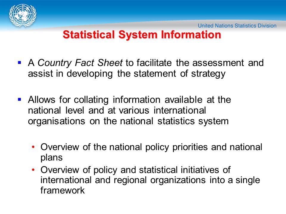 Statistical System Information
