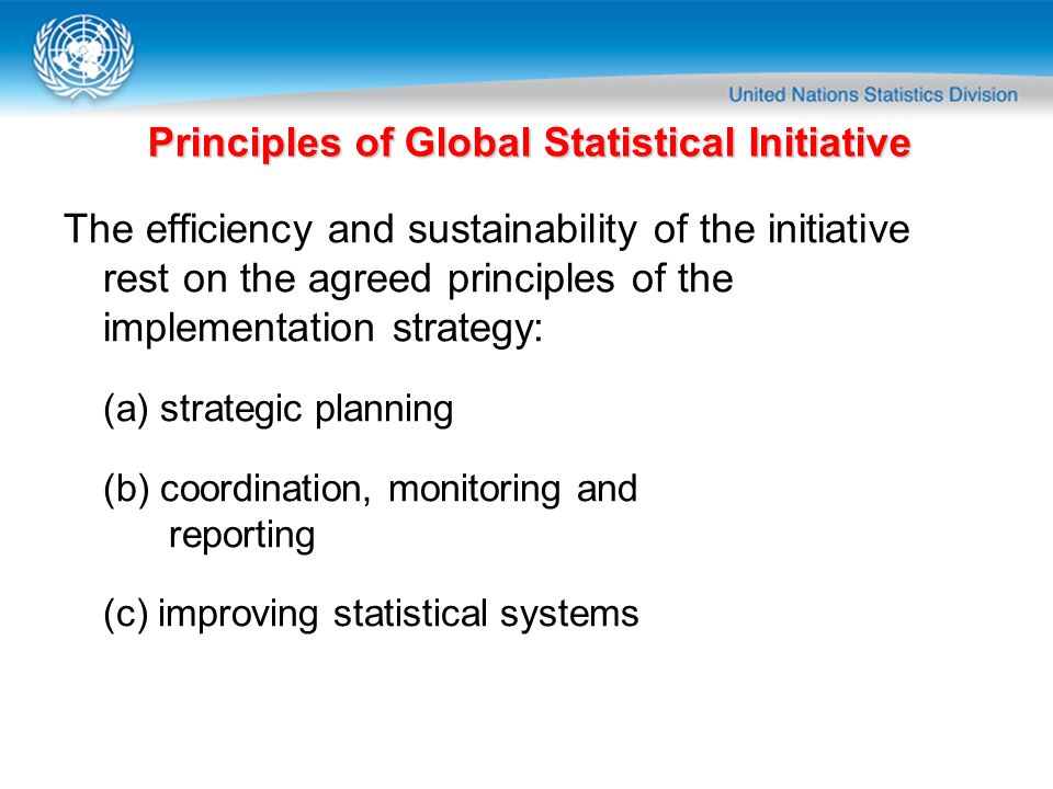 Principles of Global Statistical Initiative