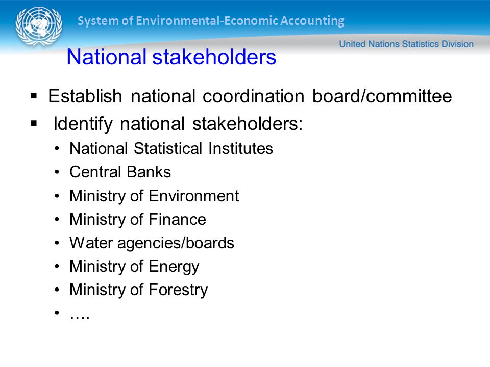 National stakeholders