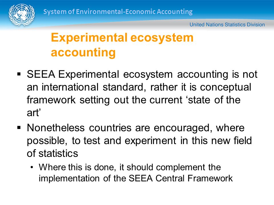 Experimental ecosystem accounting