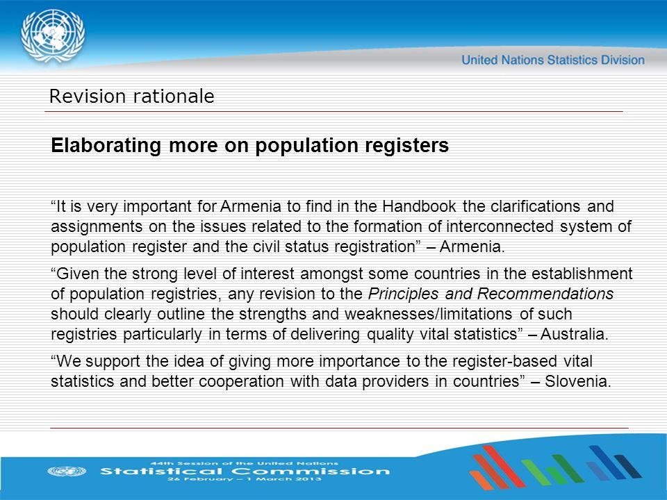 Elaborating more on population registers