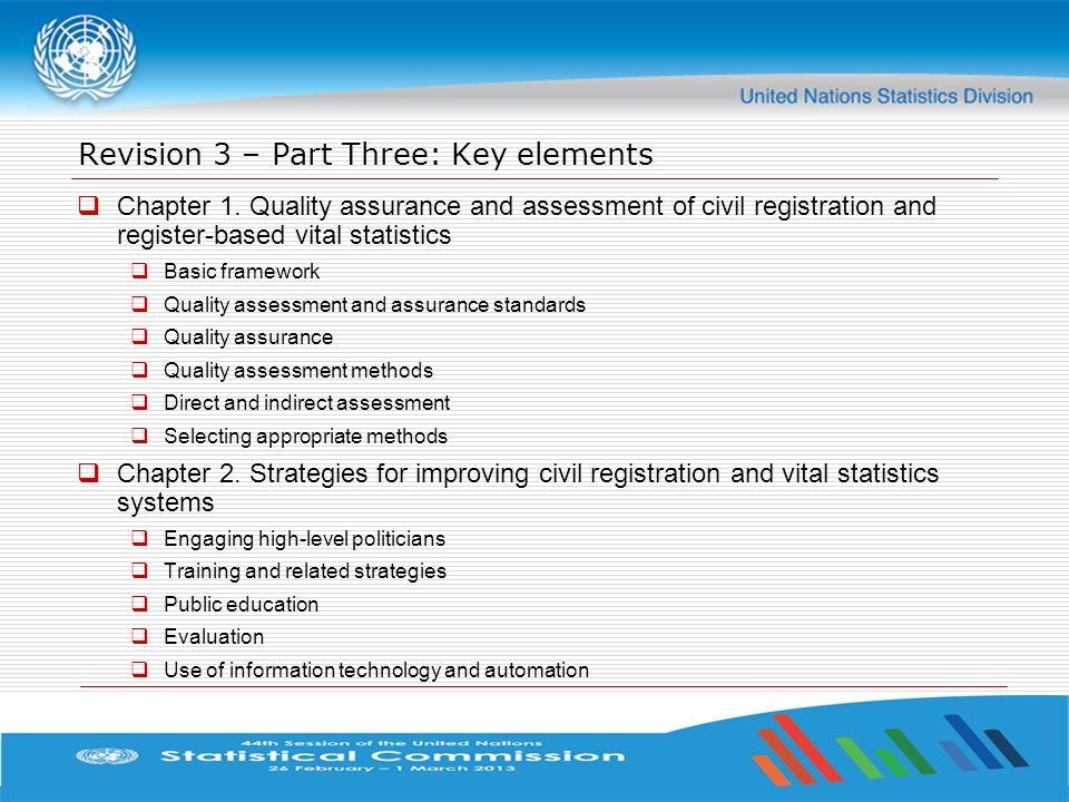 Revision 3 – Part Three: Key elements