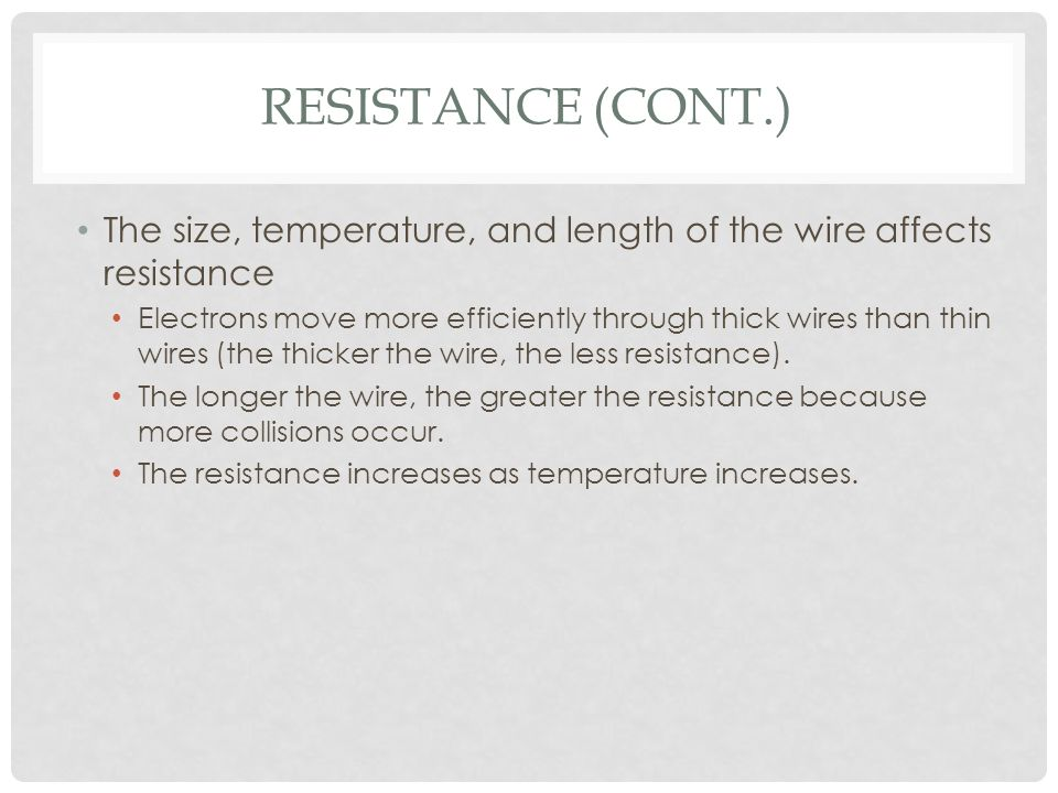 the wire showing its resistance essay Voltage, energy and power in electric circuits up with insulated connecting wire running round the perimeter of the energy and power in electric circuits.