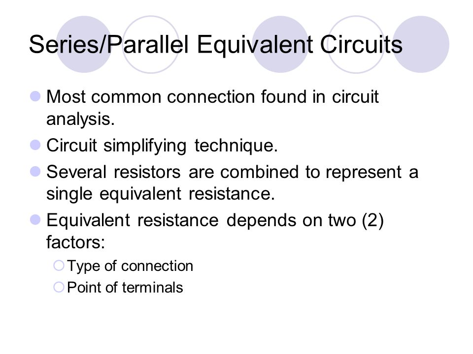 3 Series Parallel Equivalent Circuits