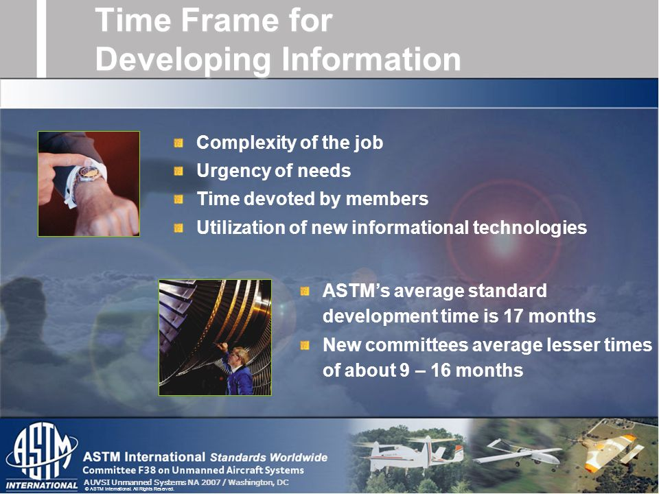Time Frame for Developing Information