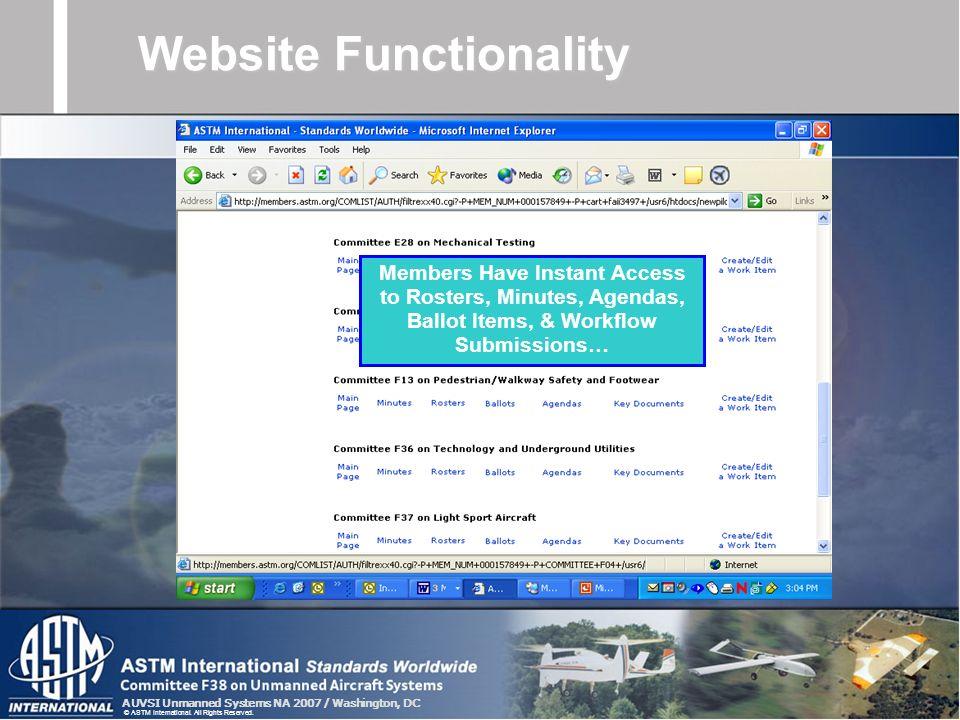 Website Functionality