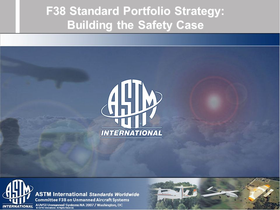 F38 Standard Portfolio Strategy: Building the Safety Case