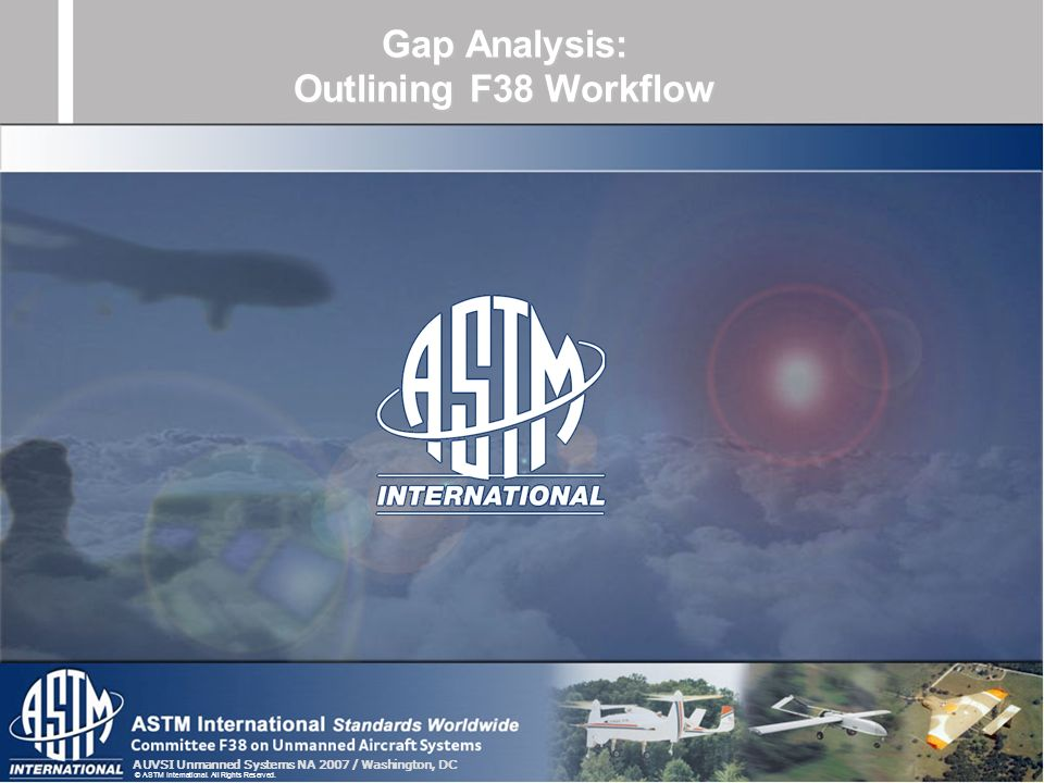 Gap Analysis: Outlining F38 Workflow