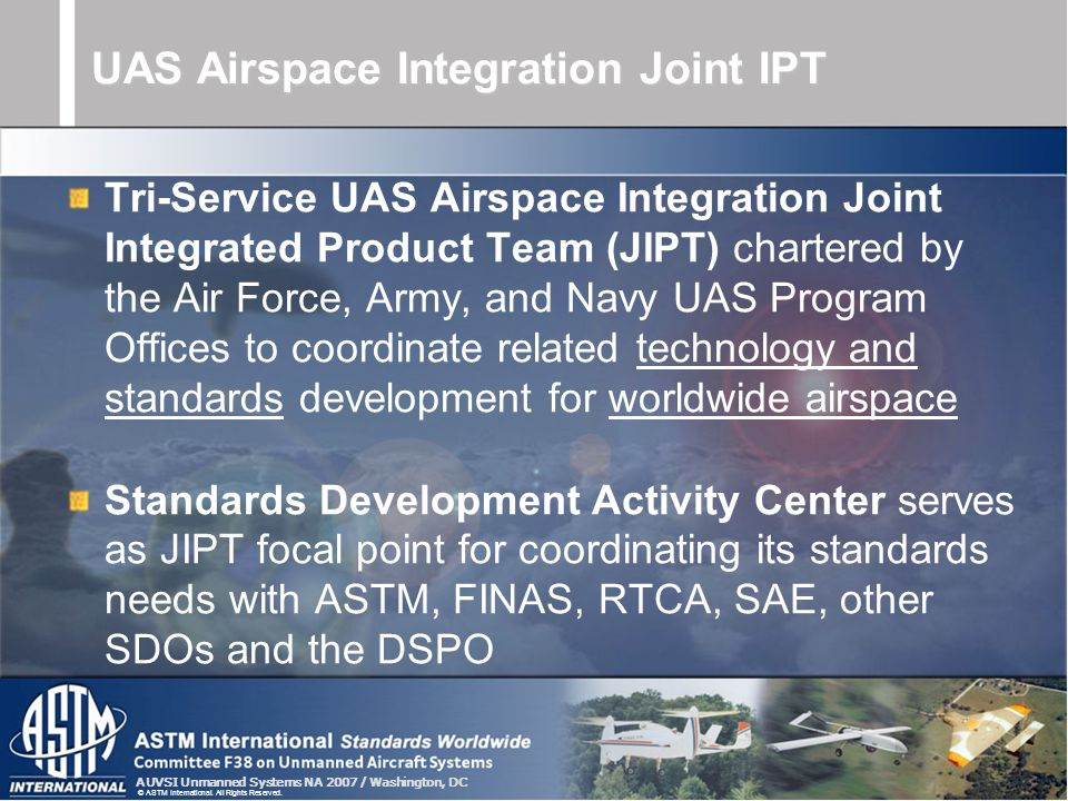 UAS Airspace Integration Joint IPT