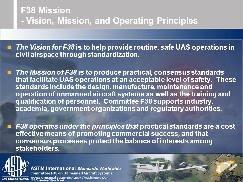 F38 Mission - Vision, Mission, and Operating Principles