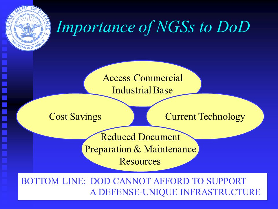 Importance of NGSs to DoD