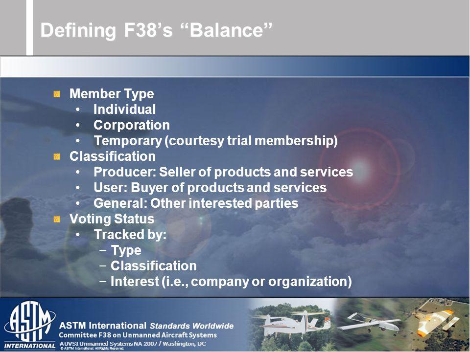 Defining F38's Balance