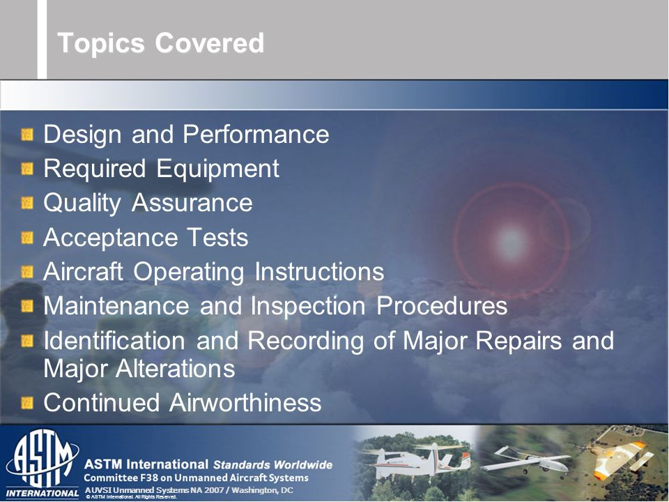 Topics Covered Design and Performance Required Equipment